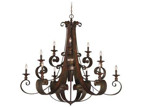 Craftmade Jeremiah Seville 12-Light Grand Chandelier in Spanish Bronze CM28012SPZ