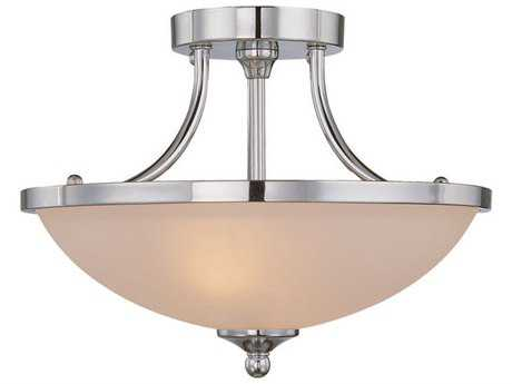Craftmade Jeremiah Spencer Two-Light Semi-Flushmount Light in Chrome with Frosted Glass CM26122CH