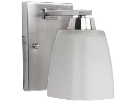 Craftmade Jeremiah Sumner Wall Sconce in Brushed Satin Nickel with Frost White Glass CM14905BNK1