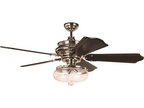 Craftmade Townsend Polished Nickel 52'' Blade Indoor Ceiling Fan with Three-Light Incandescent Light Kit CMK11262
