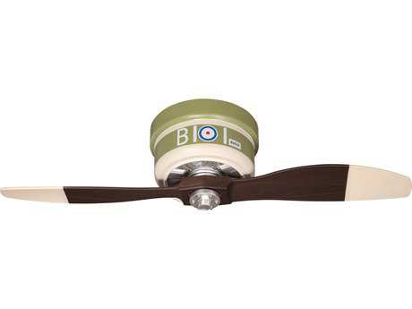 Craftmade WarPlanes Sopwith Camel One-Light 42 Inch Wide Ceiling Fan with Warbird Blades CMWB242SC2