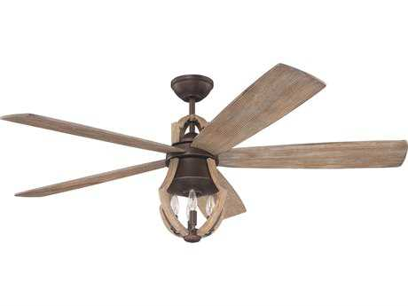 Craftmade Winton Weathered Pine Three-Light 56 Inch Wide Ceiling Fan CMWIN56ABZWP5