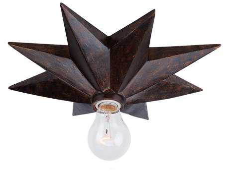 Crystorama Astro English Bronze Flush Mount Light CRY9230EB