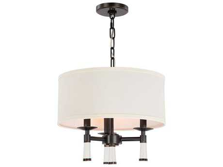 Crystorama Baxter Oil Rubbed Bronze Three-Light 16'' Wide Mini-Chandelier
