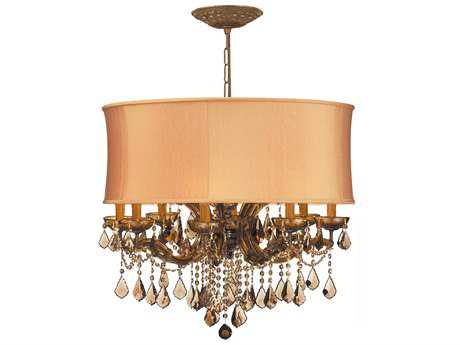 Crystorama Brentwood Antique Brass 12-Light 30'' Wide Chandelier CRY4489AB