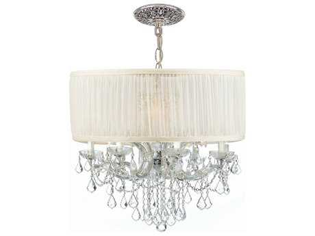Crystorama Brentwood 12-Light 30'' Wide Chandelier CRY4489SAW