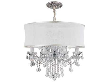 Crystorama Brentwood 12-Light 30'' Wide Chandelier CRY4489SMW