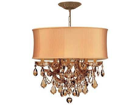 Crystorama Brentwood Antique Brass Six-Light 20'' Wide Mini Chandelier CRY4415AB