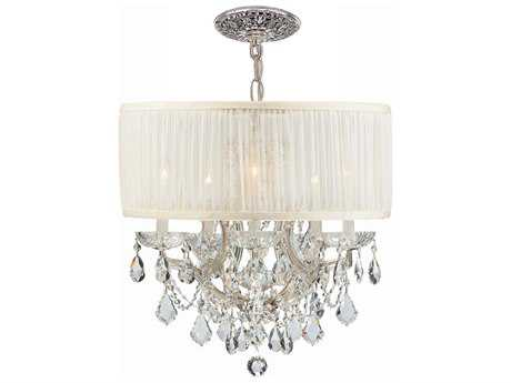 Crystorama Brentwood Six-Light 20'' Wide Mini Chandelier CRY4415SAW