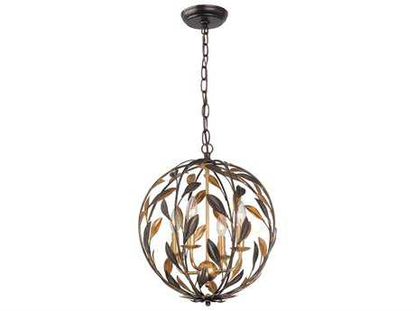Crystorama Broche Four-Light 16'' Wide Mini Chandelier CRY504EBGA