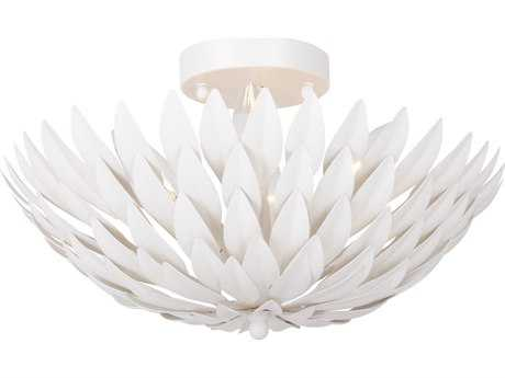 Crystorama Broche Matte White Four-Light 16'' Wide Semi-Flush Mount Ceiling Light CRY505MT