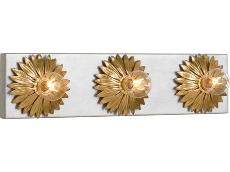 Crystorama Broche Antique Gold + Silver Wall Sconce CRY503GASA