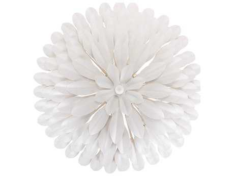 Crystorama Broche Matte White Four-Light 16'' Wide Wall Sconce CRY505MTWALL