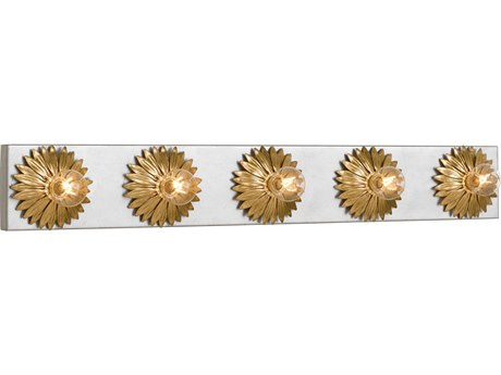 Crystorama Broche Antique Gold + Silver Wall Sconce CRY508GASA