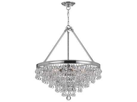 Crystorama Calypso Eight-Light 24'' Wide Chandelier CRY137