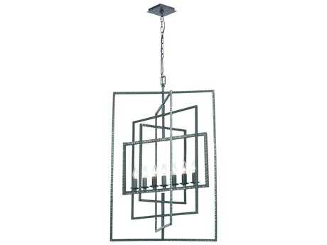 Crystorama Capri 7 Light Gray Finish Chandelier CRY339GY