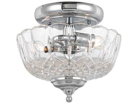 Crystorama Ceiling Mount Polished Chrome Two-Light Semi-Flush Mount Light CRY55SFCH