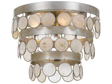 Crystorama Coco 4 Light Antique Silver Ceiling Mount CRY6000SA