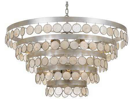 Crystorama Coco 9 Light Antique Silver Chandelier CRY6009SA
