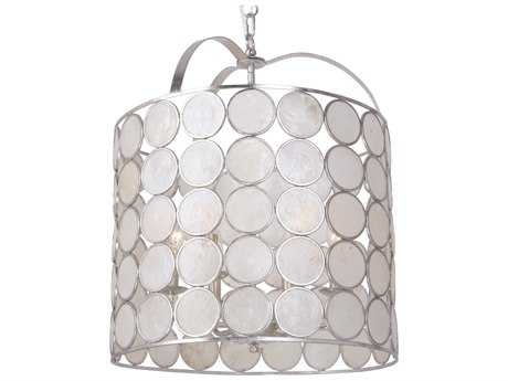 Crystorama Coco 6 Light Antique Silver Lantern CRY6007SA