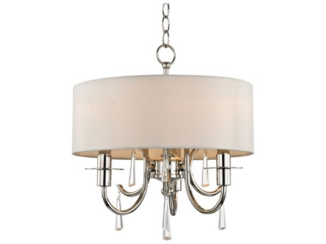 Crystorama Cody Polished Nickel 14'' Wide Crystal Mini Chandelier CRY6033PNCLMWP