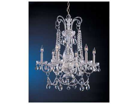 Crystorama Traditional Crystal Six-Light 28'' Wide Chandelier CRY1030
