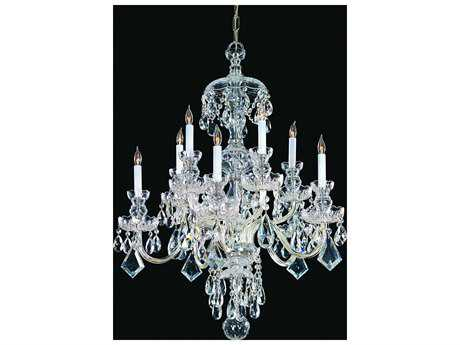 Crystorama Traditional Crystal Ten-Light 28'' Wide Chandelier