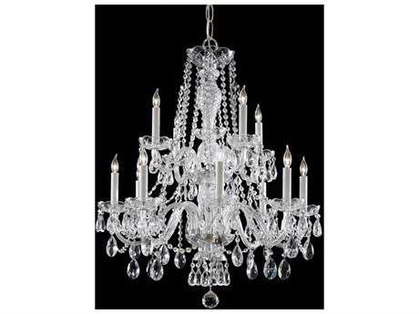 Crystorama Traditional Crystal 12-Light 26'' Wide Chandelier CRY5047