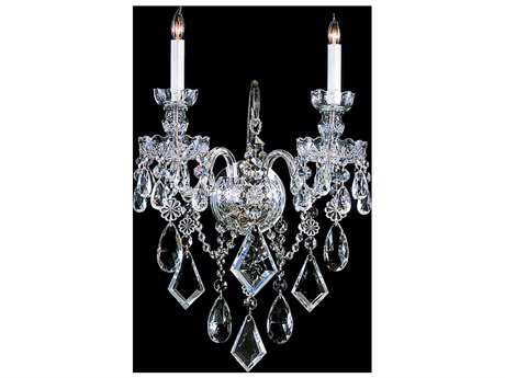 Crystorama Traditional Crystal Two-Light Wall Sconce