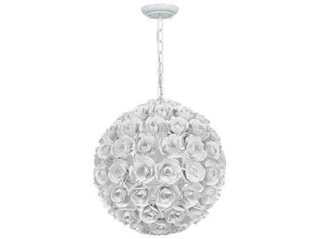 Crystorama Cypress Wet White Pendant Light CRY537WW