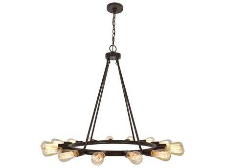Crystorama Dakota Charcoal Bronze 15-Light 28'' Wide Pendant Ceiling Light CRY9046CZ