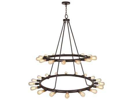 Crystorama Dakota Charcoal Bronze 33-Light 42'' Wide Pendant Ceiling Light CRY9049CZ