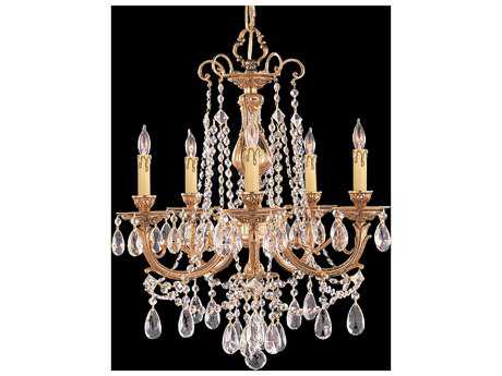 Crystorama Etta Olde Brass Five-Light 20'' Wide Chandelier CRY475OB