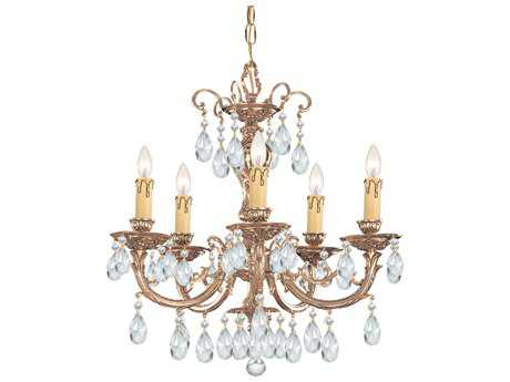 Crystorama Etta Olde Brass Five-Light 20'' Wide Chandelier CRY495OB