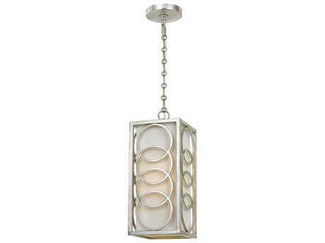 Crystorama Libby Langdon - Graham Antique Silver 6.5'' Wide Pendant Light CRY280SA