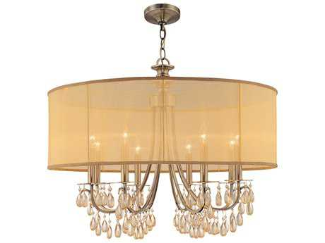 Crystorama Hampton Eight-Light 32'' Wide Chandelier CRY5628