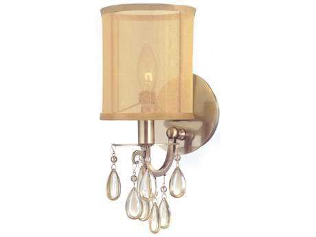 Crystorama Hampton Antique Brass Wall Sconce CRY5621