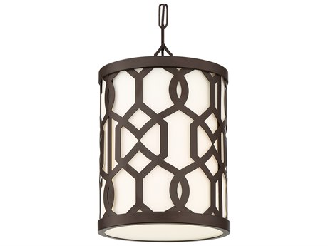 Crystorama Jennings Dark Bronze Glass Outdoor Hanging Light