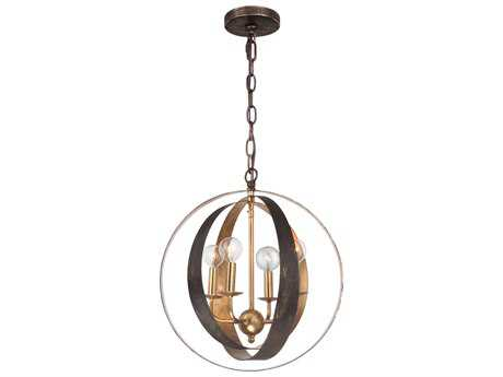 Crystorama Luna Four-Light 16'' Wide Mini Chandelier