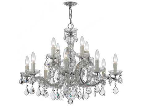 Crystorama Maria Theresa 12-Light 30'' Wide Chandelier CRY4379
