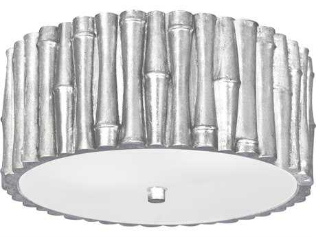 Crystorama Libby Langdon - Masefield Antique Silver Two-Light 11.25'' Wide Semi-Flush Mount Light CRY9010SA