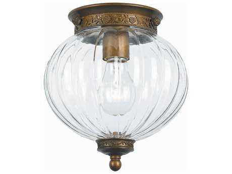 Crystorama Pendant Antique Brass Flush Mount Light CRY5780AB