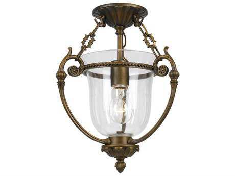Crystorama Pendant Antique Brass Semi-Flush Mount Light CRY5661AB