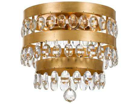 Crystorama Perla 4 Light Antique Gold Ceiling Mount CRY6100GA