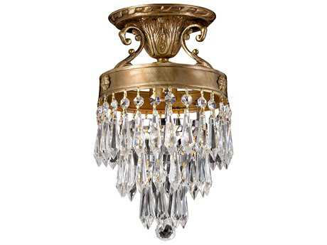 Crystorama Regal Aged Brass Semi-Flush Mount Light CRY5270AGCLMWP