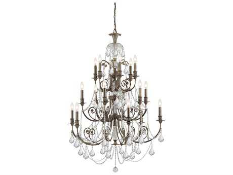 Crystorama Regis English Bronze 18-Light 36'' Wide Grand Chandelier