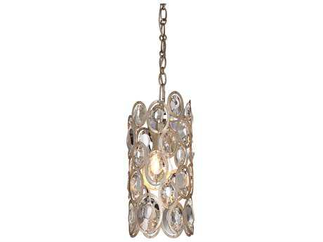 Crystorama Sterling Distressed Twilight 6'' Wide Mini-Pendant Ceiling Light with Hand Cut Crystals CRY7580DT