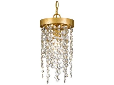 Crystorama Winham Antique Gold 7'' Wide Crystal Mini Pendants CRYWIN610GACLMWP