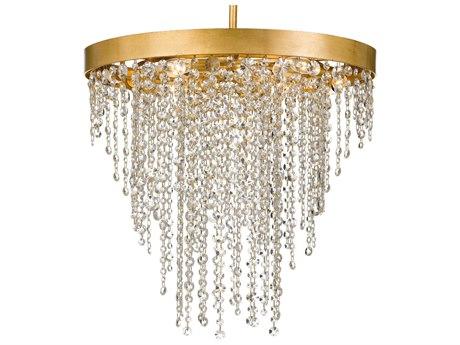 Crystorama Winham Antique Gold 24'' Wide Crystal Pendant CRYWIN616GACLMWP