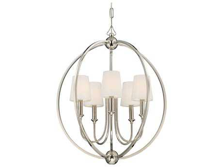 Crystorama Libby Langdon - Sylvan Polished Nickel Five-Light 22.5'' Wide Chandelier